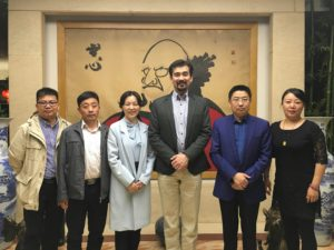 陝西省民為幼児教育連盟の罗会長、西安市蓮湖区教育局の王主任,刘科長